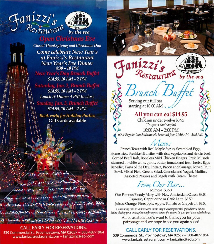 Fanizzi Provincetown New Year's Eve